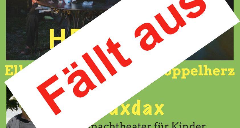 Theater abgesagt